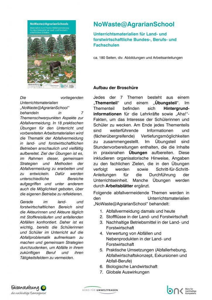 NoWaste@AgrarianSchools_Informationsblatt